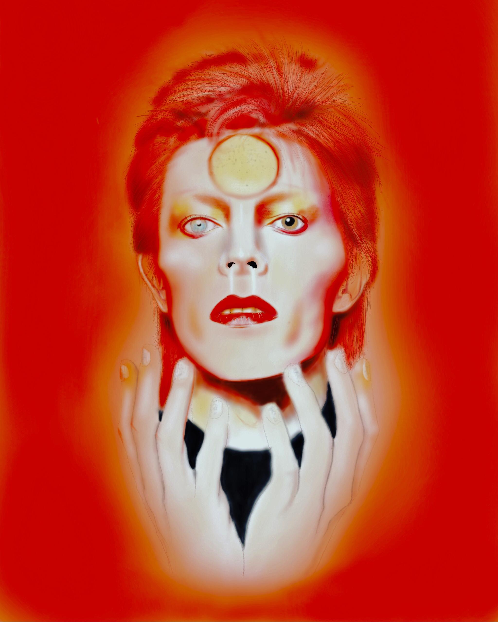 David Bowie- Ziggy Stardust, Emilia Wrocenska <br>2732 x 2048 px <br> Digital art