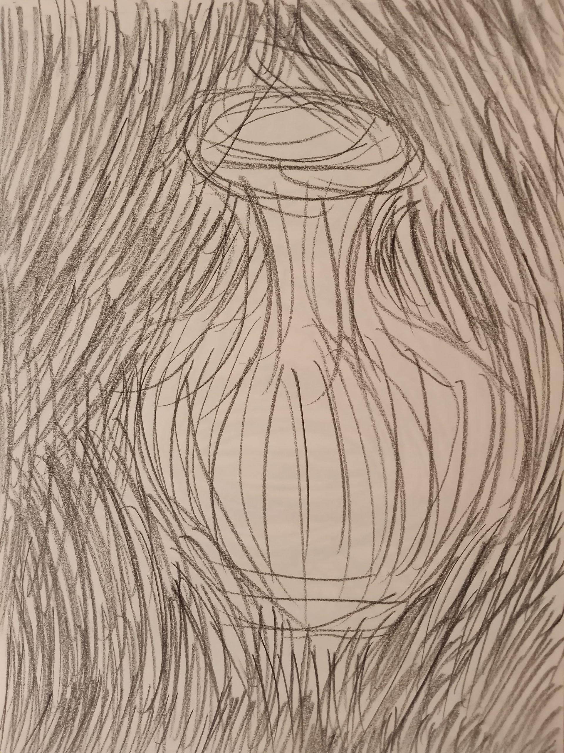 """Gesture Vase, Jennifer Ortega<br>9 x12""""<br> Pencil"""