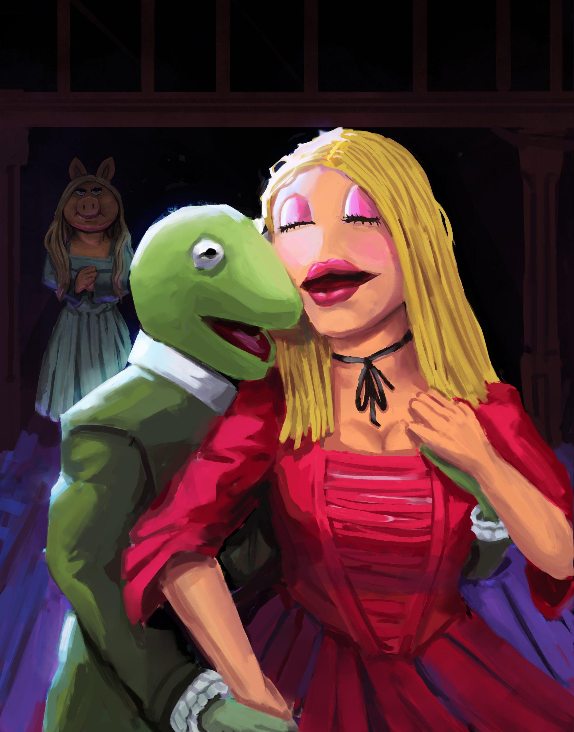 "Muppets in Hamilton, Angel Rodriguez<br>9 x 12""<br>Digital Illustration<br>"